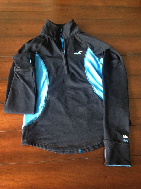 Hollister California Zip Up Collard Fitted Sweatshirt Stretchy Comfortable Womens Pull Over Jacket