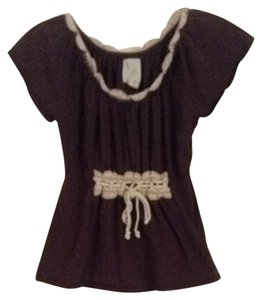 Anthropologie T Shirt Brown & Light Tan