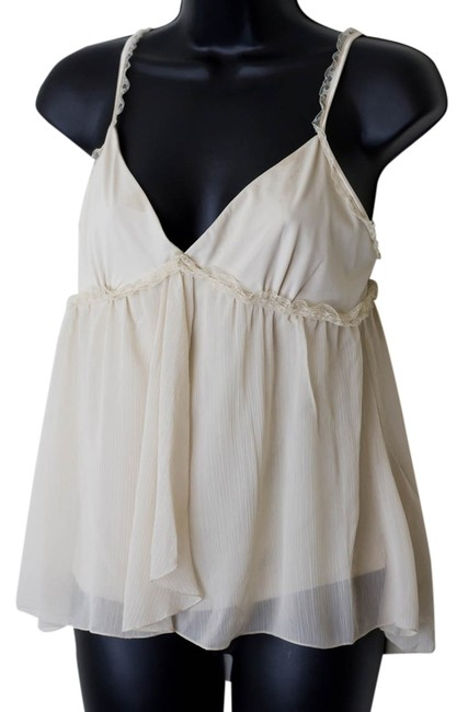 Express Size Medium Boho Top Ivory