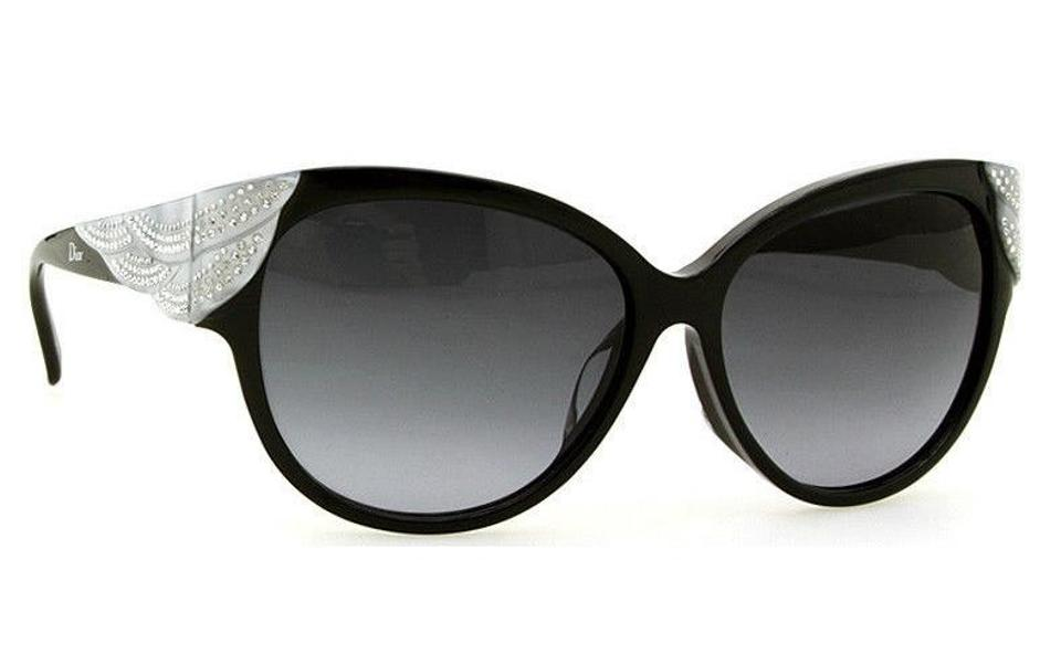 dior black silver sunglasses dior accessories tradesy