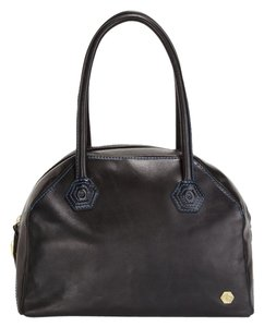 Jonathan Adler Reina Leather Satchel in Black