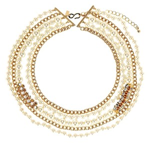 Kenneth Jay Lane Kenneth Jay Lane Multiple Strand Chain Pearl Necklace