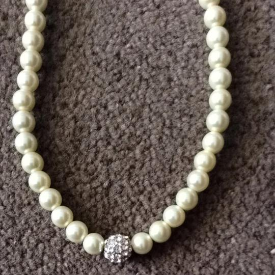 Jim Ball Pearl And Bling Necklace