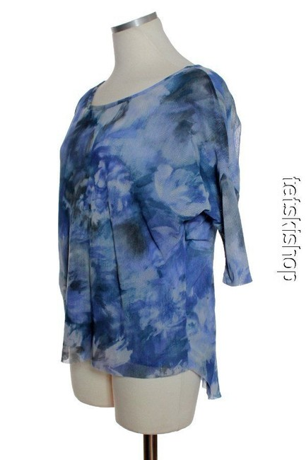 Sweet Pea by Stacy Frati Dolman Knit Top Blue