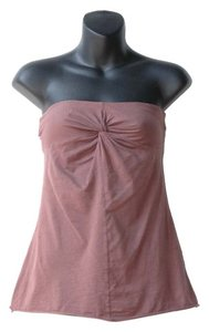 Velvet by Graham & Spencer Tube Front Knot Stretch Top brown