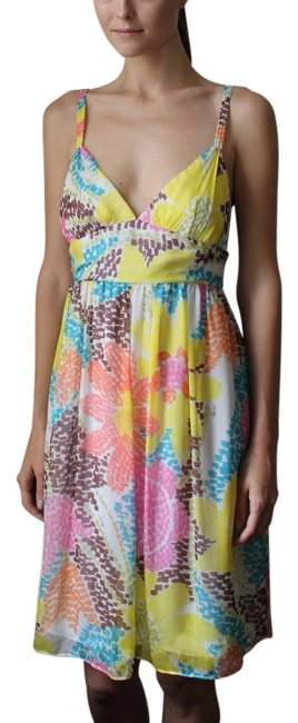 MILLY short dress multi Sun Empire Waist Summer Floral on Tradesy