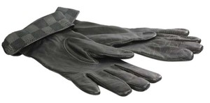 Louis Vuitton Damier Graphite Leather Gloves - M58328 - Black