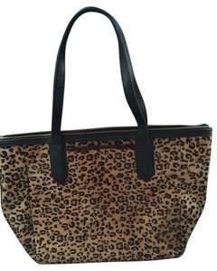 Fossil Calf Hair Tote in Leopard