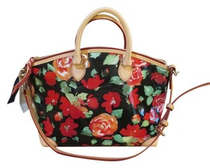 Dooney & Bourke Satchel in BLACK, RED, WHITE AND GREEN