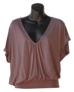 Designers Remix Loose Fitting V Neckline Top gray