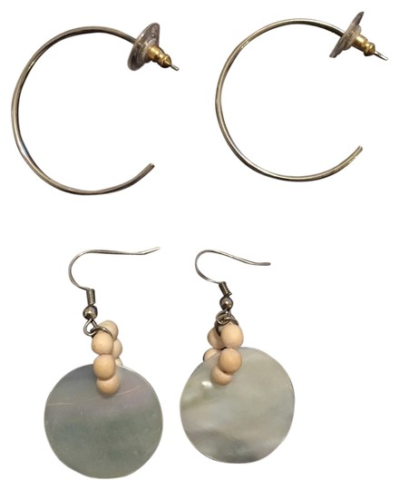 Preload https://item5.tradesy.com/images/nordstrom-silver-2-pair-of-hoops-and-white-shell-drop-earrings-4056664-0-0.jpg?width=440&height=440