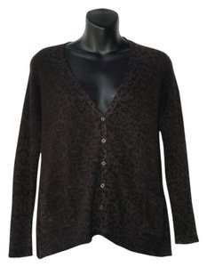 chrome by line Animal Print Cashmere Cardigan
