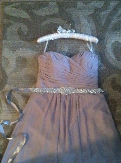 Jasmine Bridal Taupe Poly Chiffon Floor Length Formal Bridesmaid/Mob Dress Size 10 (M)