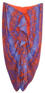 Eva Franco Batik Draped Skirt Blue & Orange