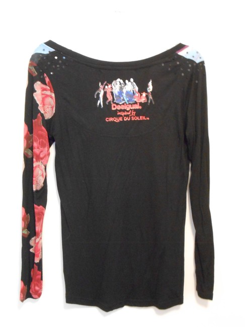 Desigual Sequin Top Black