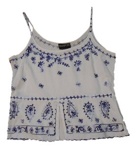 Passport Embroidered Top White