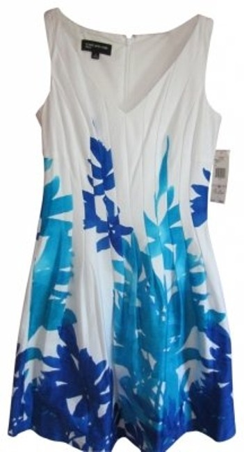 Preload https://item2.tradesy.com/images/jones-new-york-white-royal-blue-and-turquoise-cottonspandex-summer-knee-length-short-casual-dress-si-40576-0-0.jpg?width=400&height=650