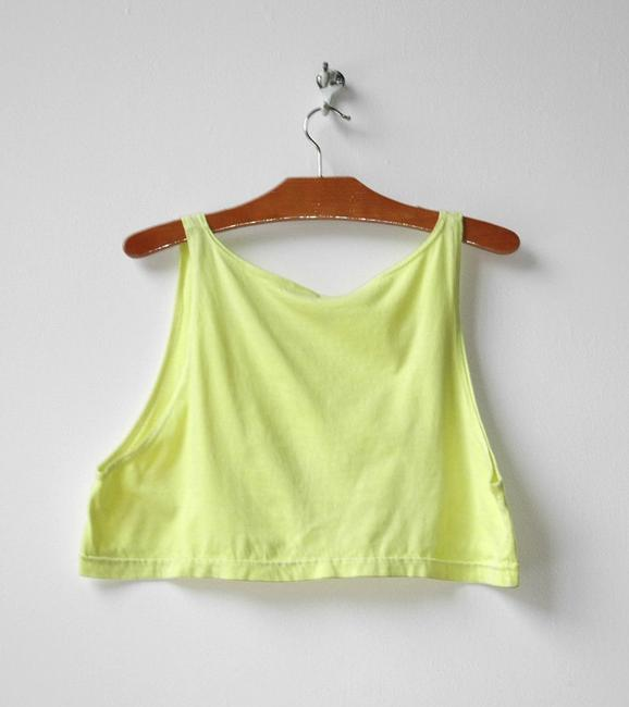 American Apparel Cropped Neon Top yellow