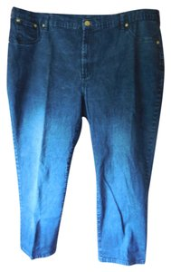 DG2 by Diane Gilman Plus-size Boot Cut Jeans-Dark Rinse