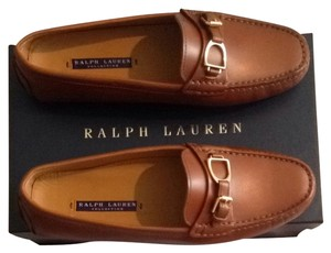 Ralph Lauren Collection Burnished Calf Flats