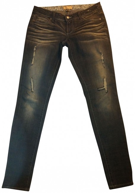 Item - Black Distressed Blue Heights 10 Skinny Jeans Size 28 (4, S)