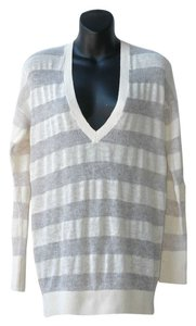 Club Monaco Striped Chunky Knit Sweater