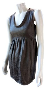Brooklyn Industries Shimmer Scoop Neck Empire Waist Mini Above Knee Evening Dress