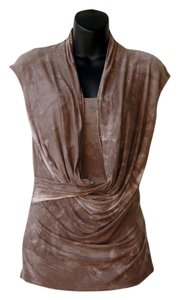 Ronen Chen Tie Dye Drape Top brown