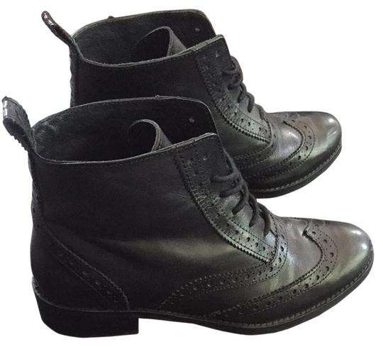 Bertie Boots Leather Italian London Comfy Cute Style Oxford Vintage Work Couture Designer Black Boots