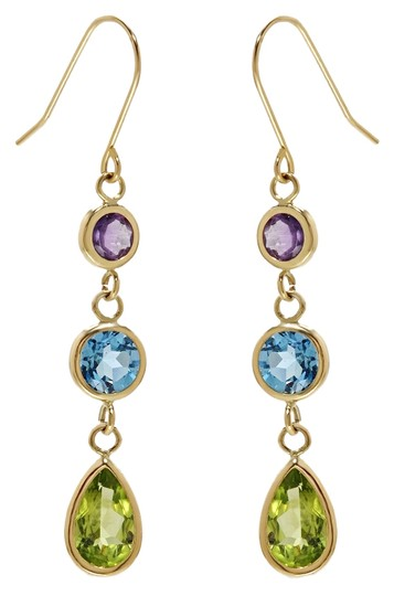 Preload https://item4.tradesy.com/images/multicolor-14k-yellow-gold-gemstone-with-peridot-amethyst-blue-topaz-and-peridot-earrings-4058968-0-0.jpg?width=440&height=440