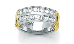 Special Holiday Gift 18kt Wide Diamond Band