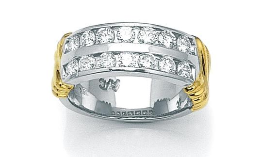 Preload https://item1.tradesy.com/images/18kt-two-tone-special-holiday-gift-diamond-women-s-wedding-band-4059355-0-0.jpg?width=440&height=440