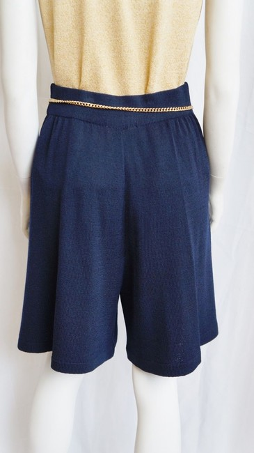 St. John Knits Knits Santana Pleated High-waisted City 8 Skort Navy Blue