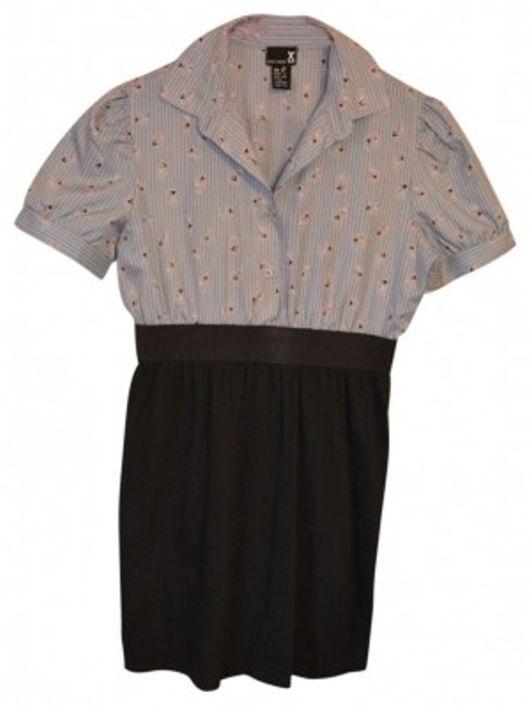 Preload https://item1.tradesy.com/images/urban-renewal-blue-and-black-one-of-a-kind-unique-above-knee-short-casual-dress-size-4-s-40600-0-0.jpg?width=400&height=650