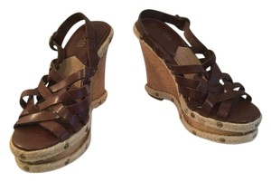 Michael by Michael Kors Brown Wedges