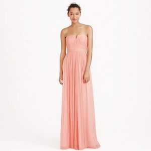 J.Crew Misty Rose Nadia Long Dress In Silk Chiffon Dress