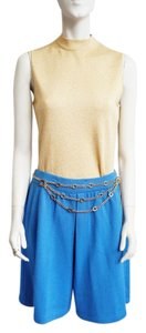 St. John Knits Knits Santana Pleats High-waisted City Size 6 Skort Cornflower Blue