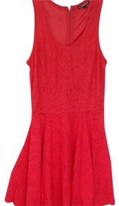 Express short dress Coral on Tradesy