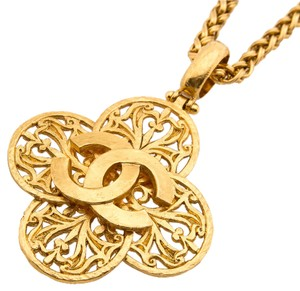 Chanel Chanel Gold CC Necklace (Authentic Pre Owned)