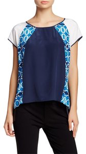 Rebecca Minkoff Silk Split Back Top Blue