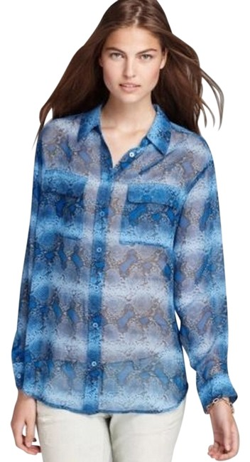 Preload https://item4.tradesy.com/images/equipment-snake-print-sheer-button-down-shirt-4060783-0-2.jpg?width=400&height=650