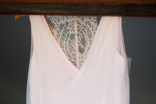 Blush Pink Silk and Tulle Overlay Destination Dress Size 2 (XS)