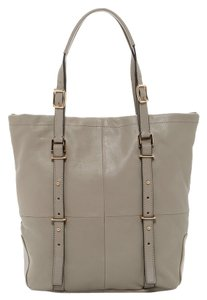 Kelsi Dagger Leather Tote in Light Gray/Taupe