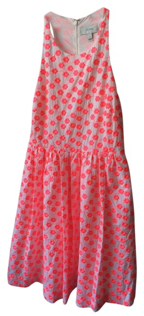 J.Crew short dress White and Neon Pink on Tradesy