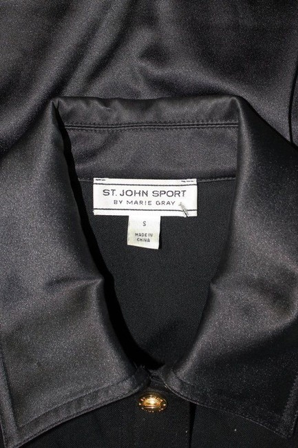 St. John Sport by Marie Gray Long Sleeve Bomber black Jacket