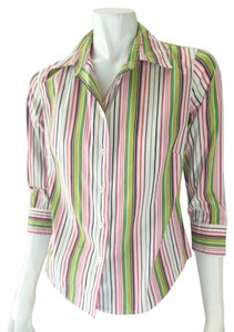 J.Crew Stretchy Career Button Down Shirt Multi