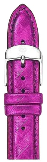 Michele Authentic MICHELE 18mm Fuschia Leather Watch Band Strap