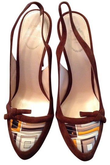 Emilio Pucci Made In Florence Italy New Without Box Brown Pumps