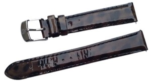 Michele New Michele 16mm Tortoise Brown Patent Leather Watch Band Strap