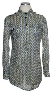 Tory Burch Elephant Print Popover Long Sleeve Tunic